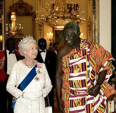 Queen Elizabeth II and John Agyekum Kufuor