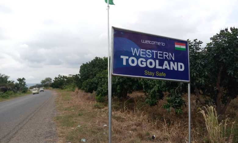 Western Togoland signpost in Akuse