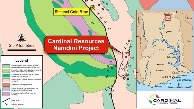 Cardinal Gold Resources Mining: Namdini project