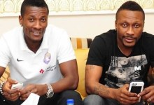 Asamoah and Baffour Gyan