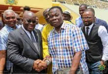 President Akufo-Addo and D K Poison at Jubilee House