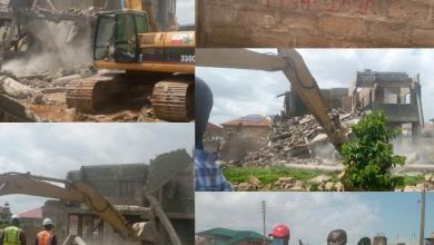Structures pulled down in Adiringanor