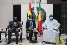 Photo of Ba N'Daou to Akufo-Addo: Thank you for your role in securing the peace of Mali