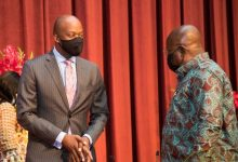 Wamkele Mene of AfCFTA with President Akufo-Addo