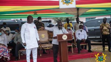 Akufo-Addo presents Hopeson Adorye to the voters of Kpone Katamanso