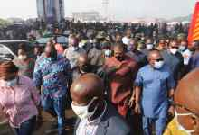 Akufo-Addo at Odawna Pedestrian Market | Photo: Wilberforce Asare, Asaase Radio