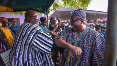 Bawumia and Mahama in an elbow greeting