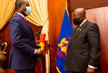 Photo of President decorates COCOBOD CEO with Companion of the Order of Volta