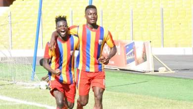 Photo of Hearts striker, Obeng Jnr, vows to score against Aduana Stars