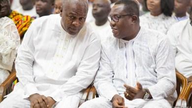 John Mahama and Ofosu Ampofo of the NDC