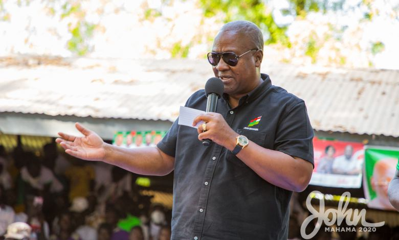 John Mahama campaigning