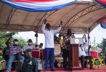 President Akufo-Addo with the NPP Candidate for Lower Manya Krobo, Teddy Nuertey Ayertey
