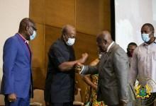 President Nana Akufo-Addo and John Mahama at the signing of the peace pact