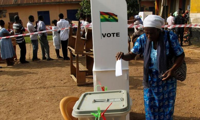 Election voting in Ghana