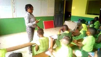 A school classroom in Kane