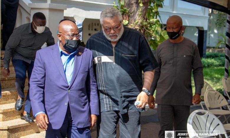 Jerry Rawlings and Nana Akufo-Addo