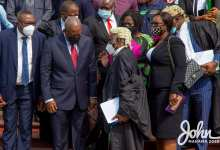 Tsatsu Tsikata and John Mahama at the Supreme Court