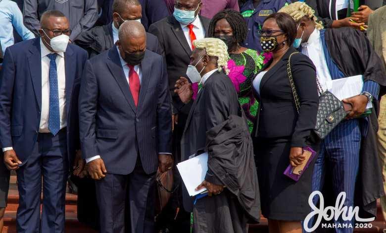 Tsatsu Tsikata and John Mahama at the Supreme Court