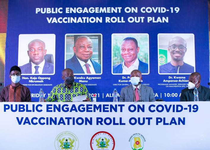 Officials at the Public Engagement on COVID-19 vaccination roll out plan forum