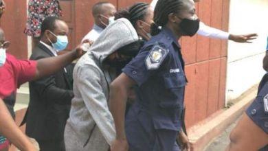 Akuapem Poloo being taken to serve her sentence