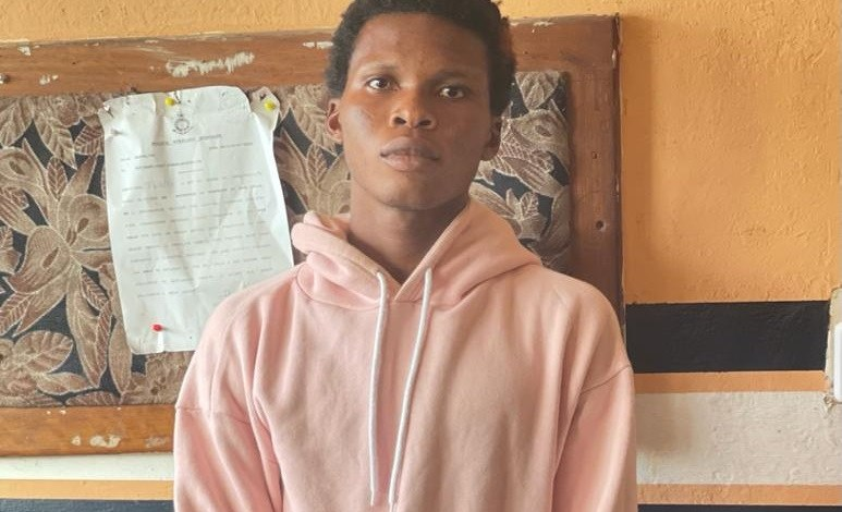Fenuku Frank Jnr, a footballer, is the prime suspect in police recruitment scam