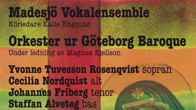 Messias konsertaffisch för Madesjö kyrka