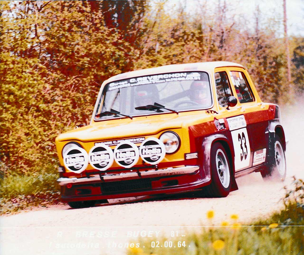 Christian Reverchon sur Simca Rallye 2