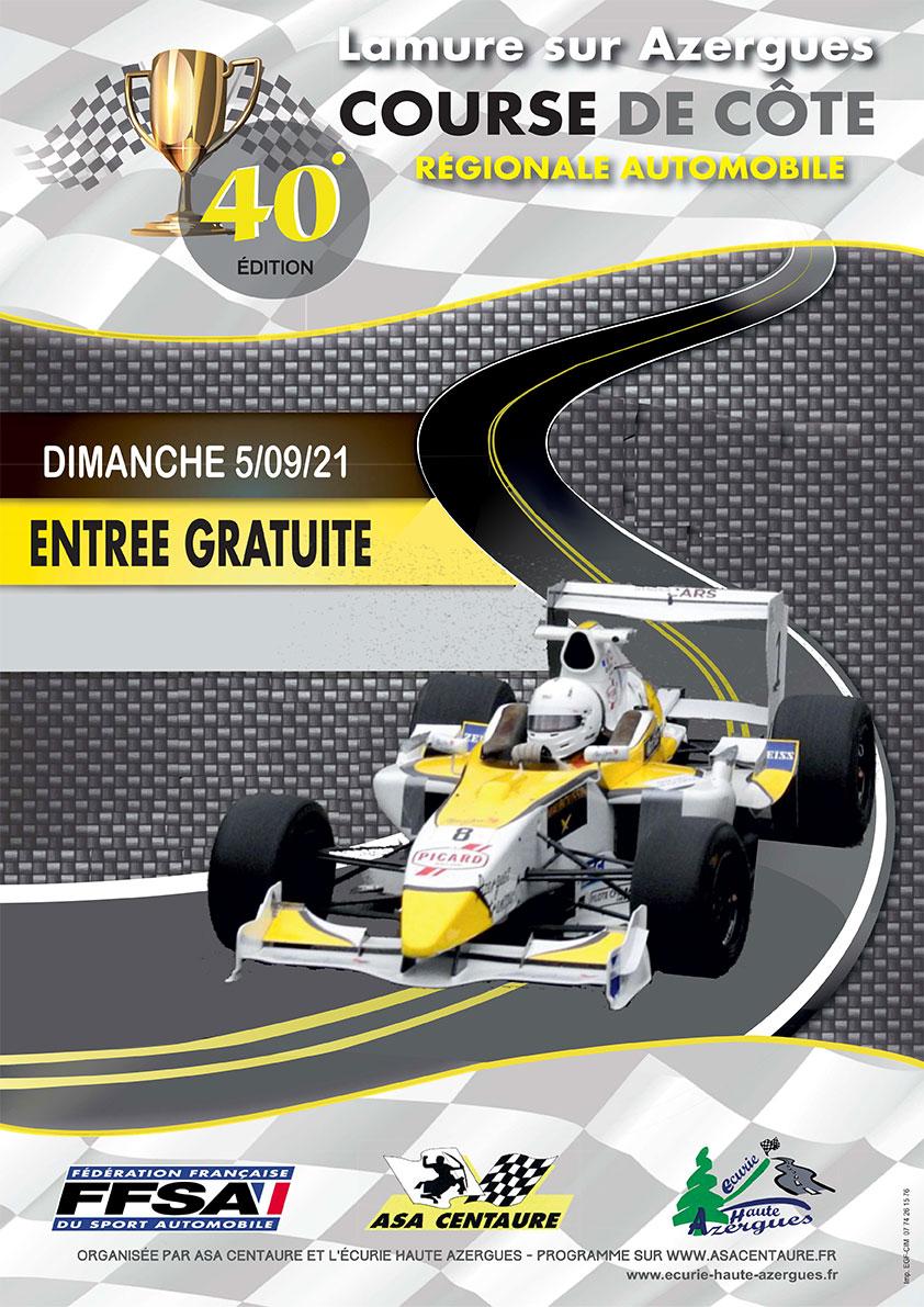 Affiche Course de Côte de Lamure-sur-Azergues 2021