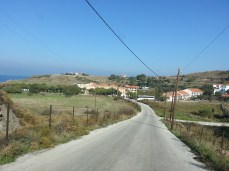 Road leading to Akti Hotel where I am staying. The Lighthouse beach is just behind.