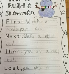 Procedural Writing - How to Make a Snowman - Fun in first at ASA [ 1066 x 800 Pixel ]