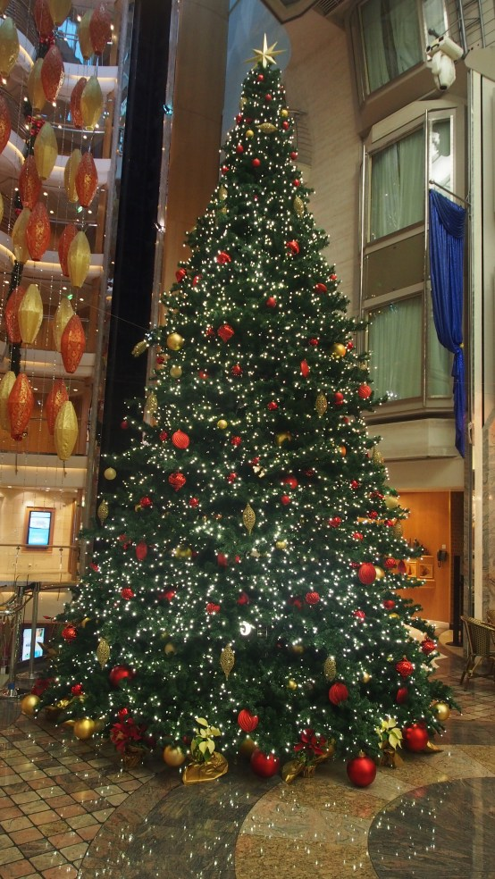 Christmas tree onboard the cruise