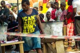 A voter about to cast her vote. Accra,Ghana