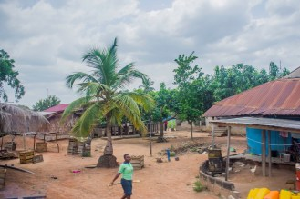Typical Ghanaian countryside settlement