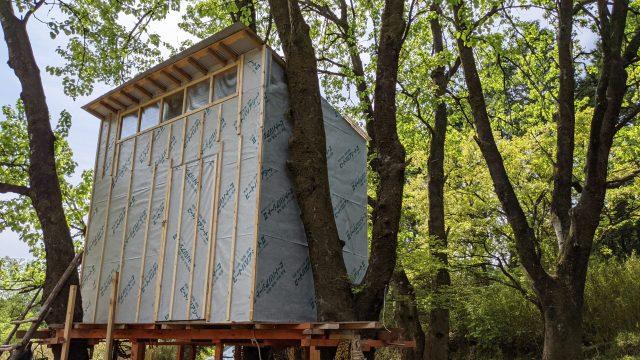 ツリーハウスの作り方 上物編 vol.6 外壁の下準備小割りつけ
