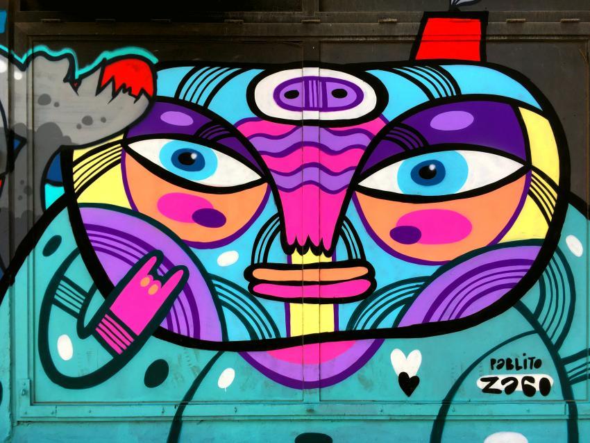 Graffiti en la calle de Beirut