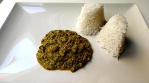 Matapa con arroz