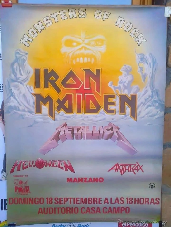 Cartel Monsters of Rock Bcn 1988