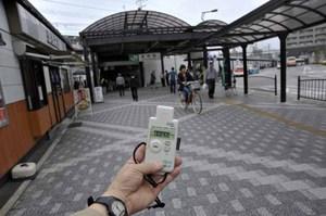 JR kanamachi station 0.24 microsievert per hour