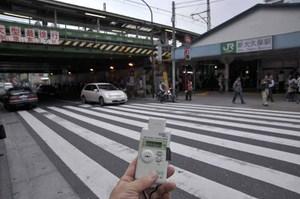 jr shin-okubo station 0.07 microsievert per hour