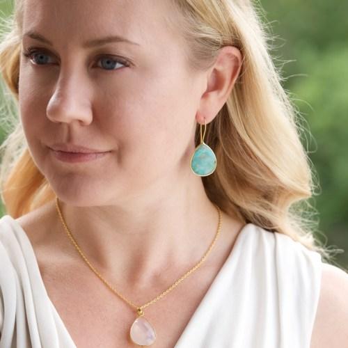 Örhängen Effie Golden Turquoise