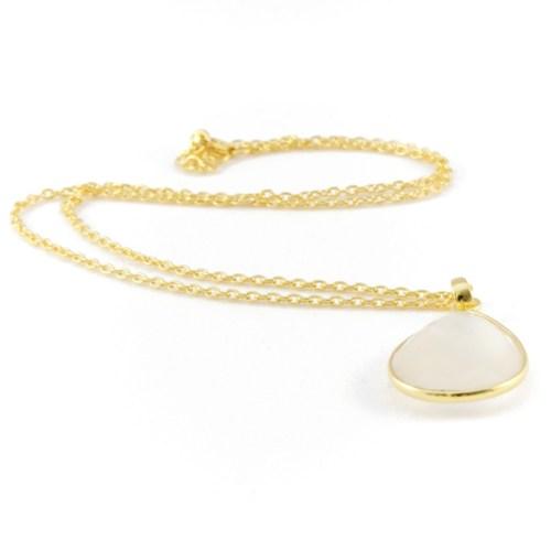 Halsband Maja Golden Blanc