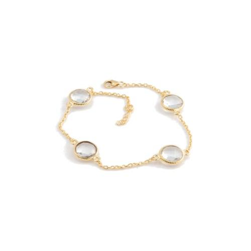 Armband Amelie Golden Crystal med guldpläterat silver och bergkristall
