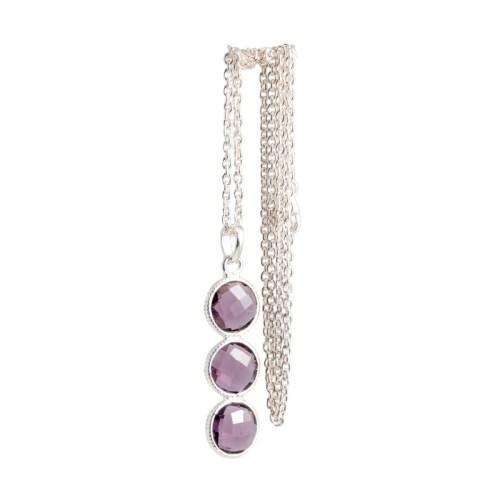 Halsband - Noomie Silver Purpur