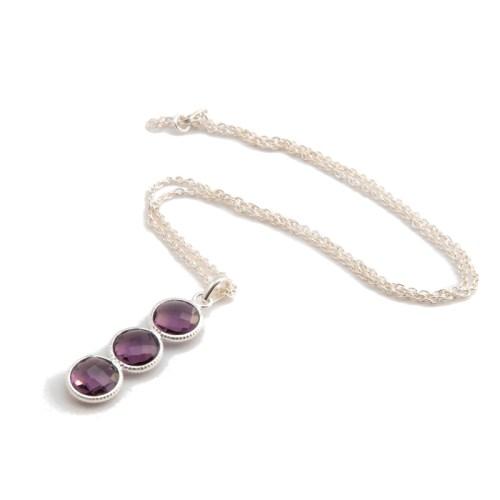 Halsband Noomie Silver Purpur