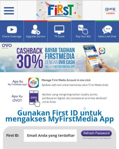 Bayar First Media Bisa Dapat Cashback OVO Points