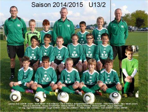 Asa U13 équipe 2 saison 2014-2015