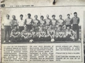 As Andolsheim Article Journal Alsace septembre 1988