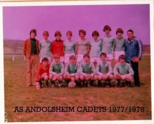 As Andolsheim Cadets 1977 1978