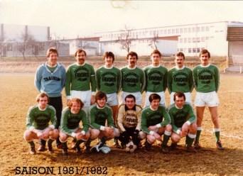 As Andolsheim Séniors 1 1981 1982
