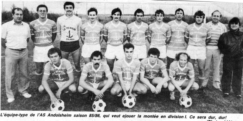 As Andolsheim équipe 1 1985:1986